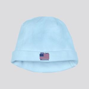 Mille Lacs US Flag baby hat