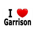 I Love Garrison 38.5 x 24.5 Wall Peel