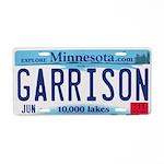 Garrison License Plate Aluminum License Plate