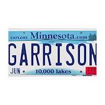 Garrison License Plate 38.5 x 24.5 Wall Peel
