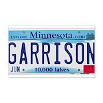 Garrison License Plate 22x14 Wall Peel