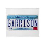 Garrison License Plate Throw Blanket