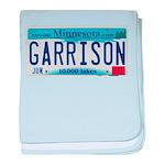 Garrison License Plate baby blanket