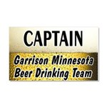Garrison Beer Drinking Team Car Magnet 20 x 12