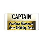 Garrison Beer Drinking Team Aluminum License Plate