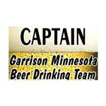 Garrison Beer Drinking Team 38.5 x 24.5 Wall Peel