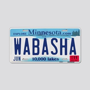 Wabasha License Plate Aluminum License Plate