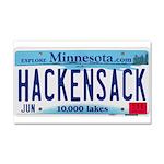 Hackensack License Plate Car Magnet 20 x 12