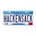 Hackensack License Plate Aluminum License Plate
