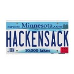 Hackensack License Plate 38.5 x 24.5 Wall Peel