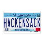 Hackensack License Plate 22x14 Wall Peel
