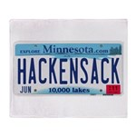 Hackensack License Plate Throw Blanket