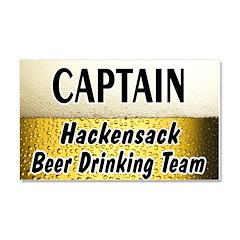Hackensack Beer Drinking Team Car Magnet 20 x 12