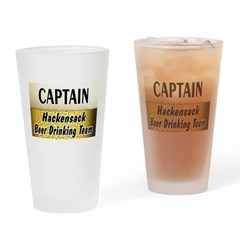 Hackensack Beer Drinking Team Drinking Glass