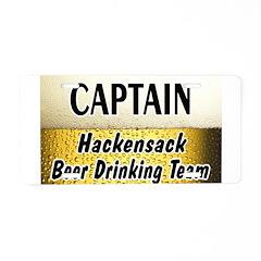 Hackensack Beer Drinking Team Aluminum License Pla
