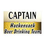 Hackensack Beer Drinking Team 38.5 x 24.5 Wall Pee