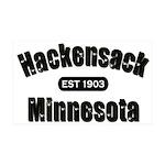 Hackensack Established 1903 38.5 x 24.5 Wall Peel