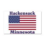 Hackensack US Flag Car Magnet 20 x 12