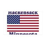 Hackensack US Flag 38.5 x 24.5 Wall Peel