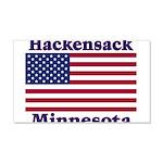 Hackensack US Flag 22x14 Wall Peel