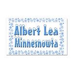 Albert Lea Minnesnowta Car Magnet 20 x 12