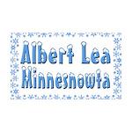 Albert Lea Minnesnowta 38.5 x 24.5 Wall Peel