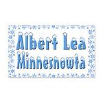 Albert Lea Minnesnowta 22x14 Wall Peel