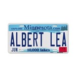 Albert Lea License Plate Aluminum License Plate