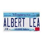 Albert Lea License Plate 38.5 x 24.5 Wall Peel