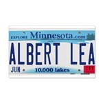 Albert Lea License Plate 22x14 Wall Peel