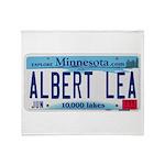 Albert Lea License Plate Throw Blanket