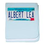 Albert Lea License Plate baby blanket