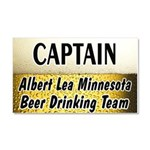 Albert Lea Beer Drinking Team Car Magnet 20 x 12