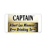 Albert Lea Beer Drinking Team Aluminum License Pla