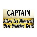 Albert Lea Beer Drinking Team 38.5 x 24.5 Wall Pee