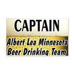 Albert Lea Beer Drinking Team 22x14 Wall Peel