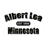 Albert Lea Established 1856 38.5 x 24.5 Wall Peel