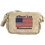Albert Lea US Flag Messenger Bag