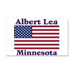 Albert Lea US Flag Car Magnet 20 x 12
