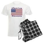 Albert Lea US Flag Men's Light Pajamas