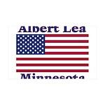 Albert Lea US Flag 38.5 x 24.5 Wall Peel