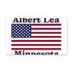 Albert Lea US Flag 22x14 Wall Peel
