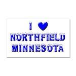 I Love Northfield Car Magnet 20 x 12