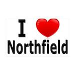 I Love Northfield 38.5 x 24.5 Wall Peel