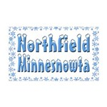 Northfield Minnesnowta 38.5 x 24.5 Wall Peel