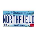 Northfield License Plate 38.5 x 24.5 Wall Peel