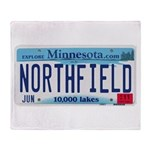 Northfield License Plate Throw Blanket