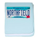 Northfield License Plate baby blanket