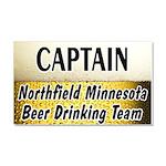 Northfield Beer Drinking Team Car Magnet 20 x 12