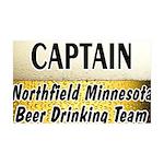 Northfield Beer Drinking Team 38.5 x 24.5 Wall Pee
